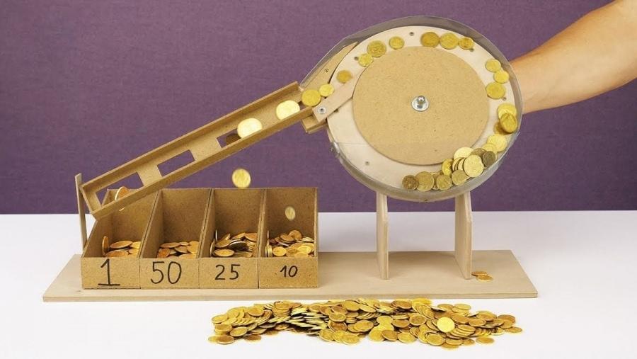 Eine selbstgebaute Münz-Sortier-Maschine | Handwerk | Was is hier eigentlich los?