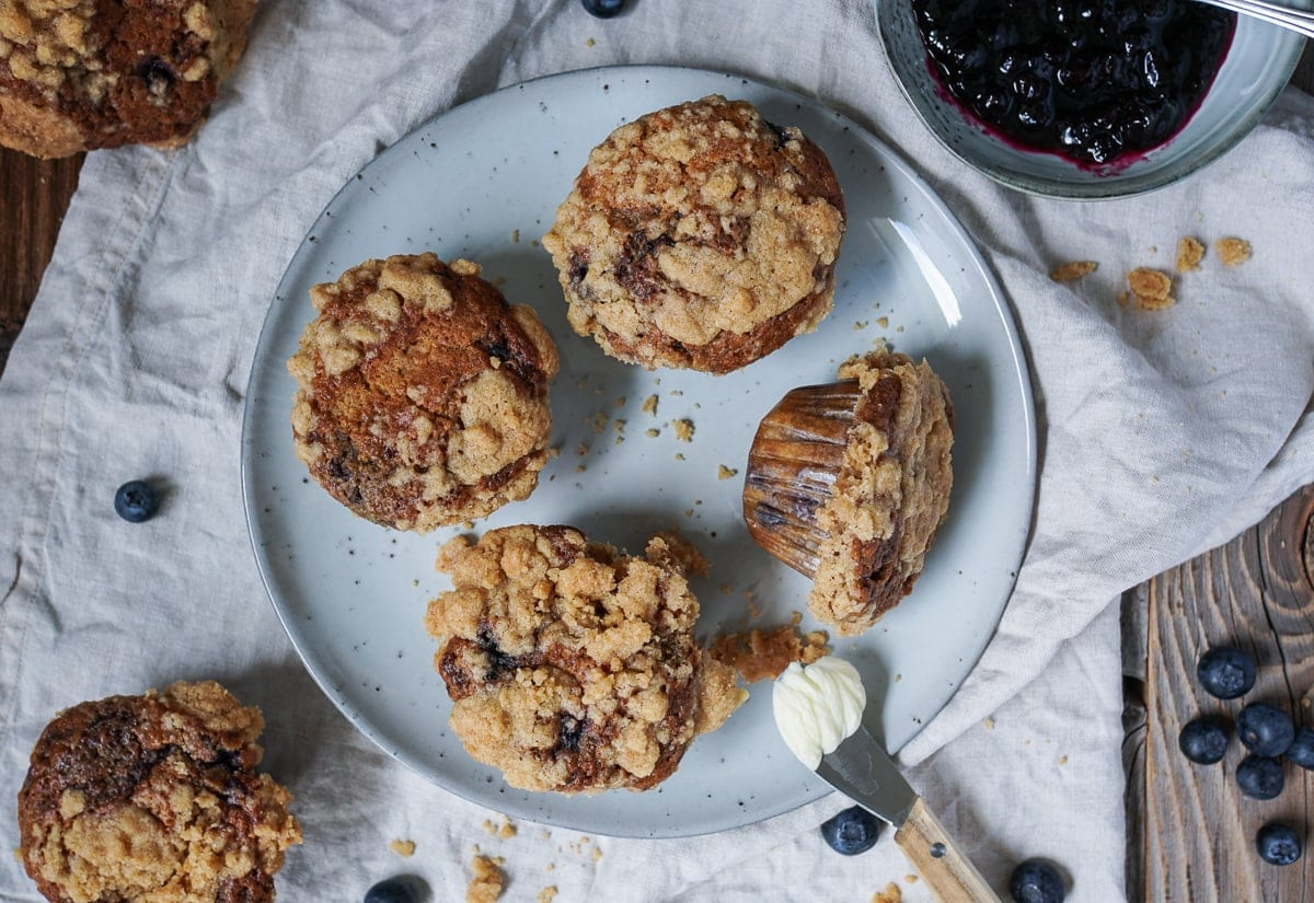 Line backt Coffee-Crumble-Blueberry-Muffins | Line backt | Was is hier eigentlich los?