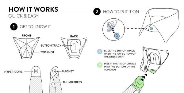 Magnetische Krawatten-Knoten von Modern Tie   Gadgets   Was is hier eigentlich los?