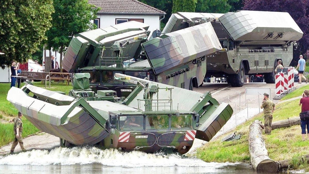 Das Brücken- und Übersetzfahrzeug M3 der Bundeswehr | Gadgets | Was is hier eigentlich los?