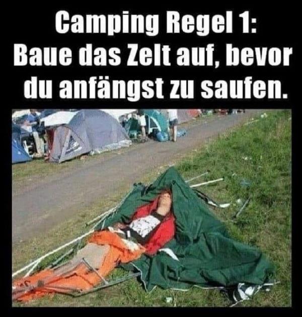 Die wichtigste Regel beim Camping | Lustiges | Was is hier eigentlich los? | wihel.de
