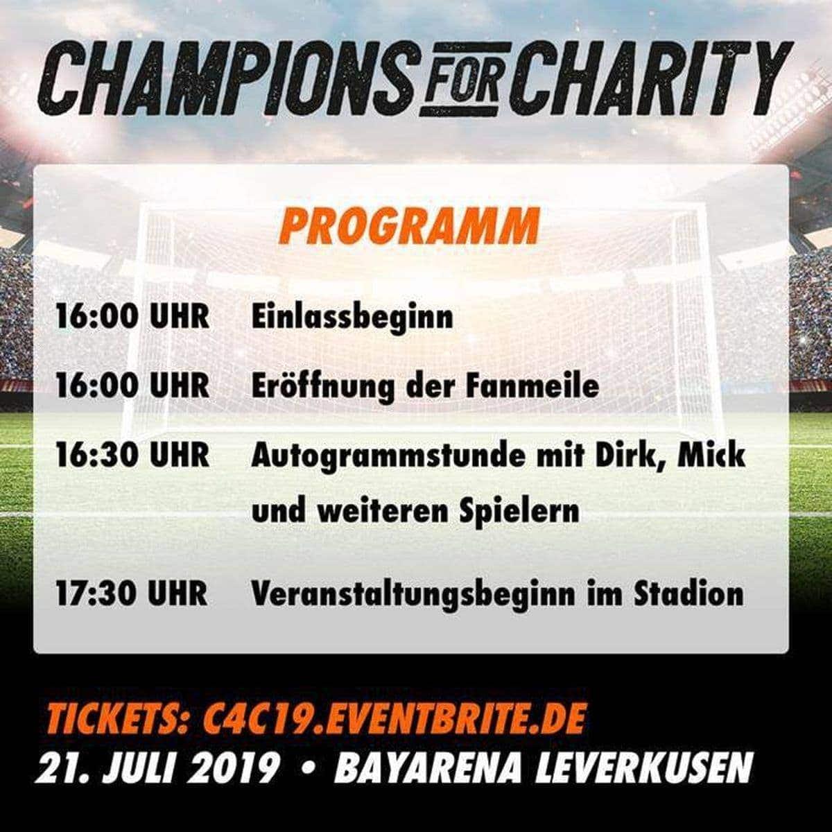 Mit ING und wihel.de zum Charity-Fußballspiel des Jahres: Champions for Charity | sponsored Posts | Was is hier eigentlich los?