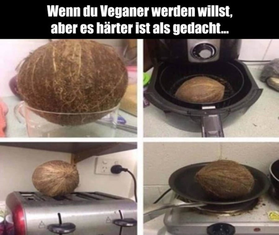 Gar nicht so einfach, Veganer zu werden ... | Lustiges | Was is hier eigentlich los?