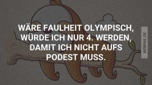 Wenn Faulheit olympisch wäre | Lustiges | Was is hier eigentlich los?