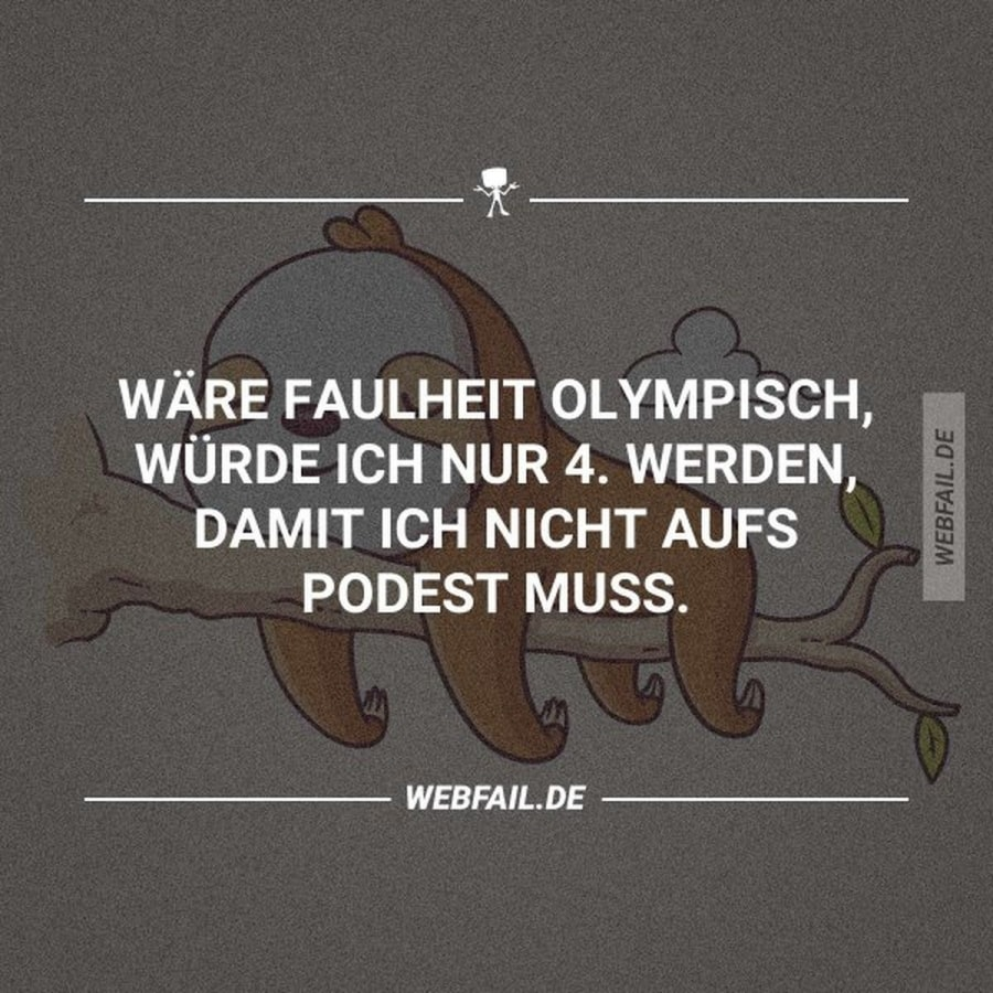 Wenn Faulheit olympisch wäre   Lustiges   Was is hier eigentlich los?