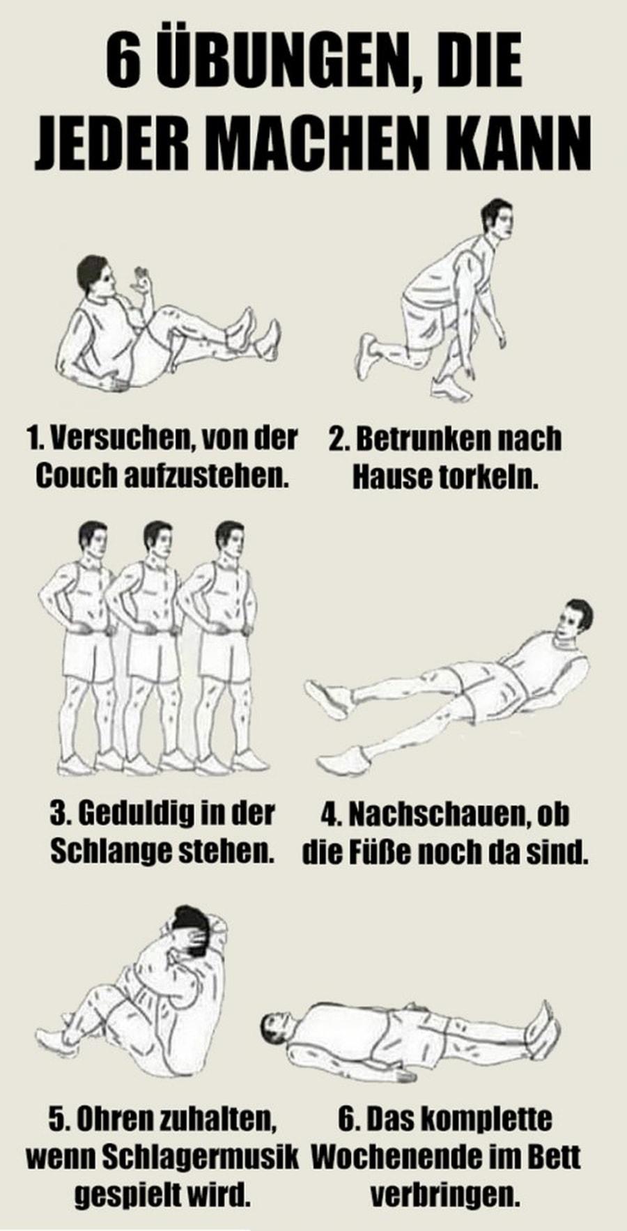 6 Übungen, die jeder machen kann | Lustiges | Was is hier eigentlich los?