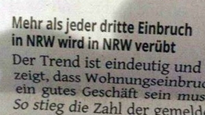 Captain Obvious hat wieder zugeschlagen: Einbrüche in NRW | Lustiges | Was is hier eigentlich los?