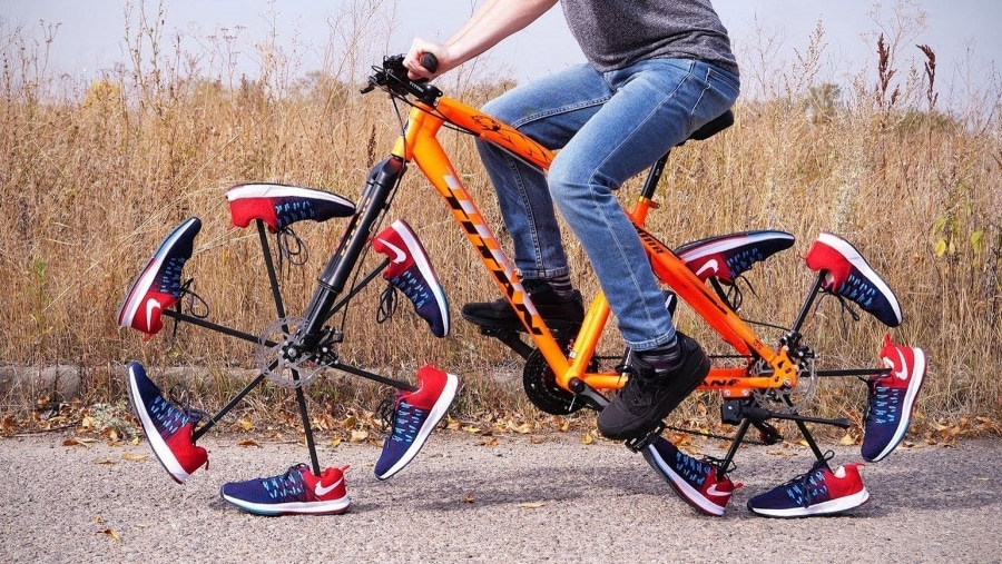 Ein Fahrrad mit Schuhen statt Reifen | Gadgets | Was is hier eigentlich los?