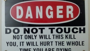 Nur das vielleicht überzeugendste Warnschild der Welt | Lustiges | Was is hier eigentlich los?