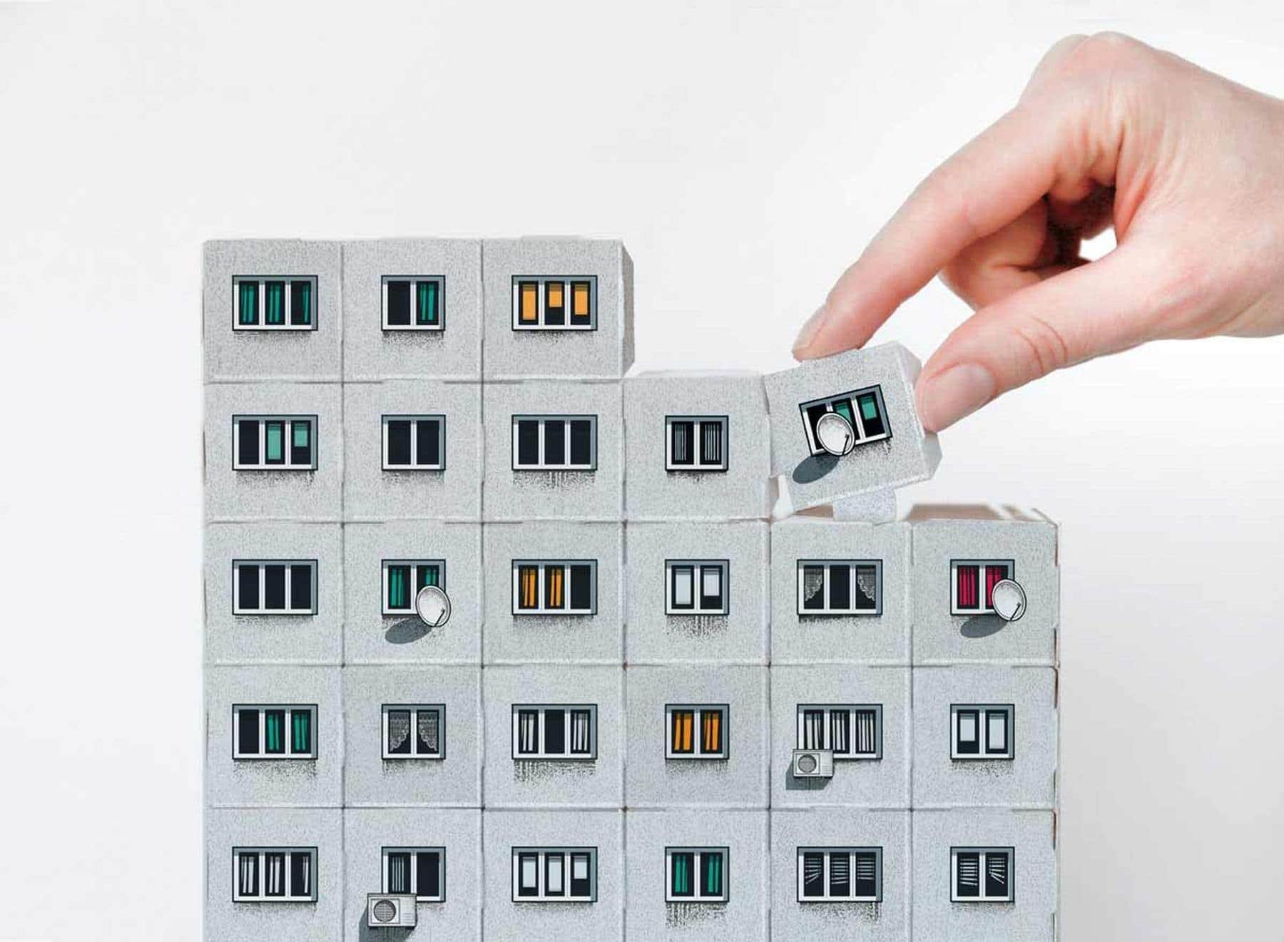 Papp-Plattenbau zum Selberbauen von Zupagrafika   Design/Kunst   Was is hier eigentlich los?