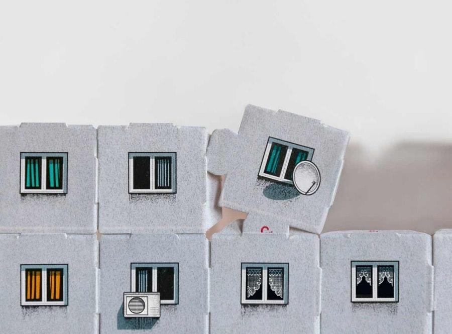 Papp-Plattenbau zum Selberbauen von Zupagrafika | Design/Kunst | Was is hier eigentlich los?