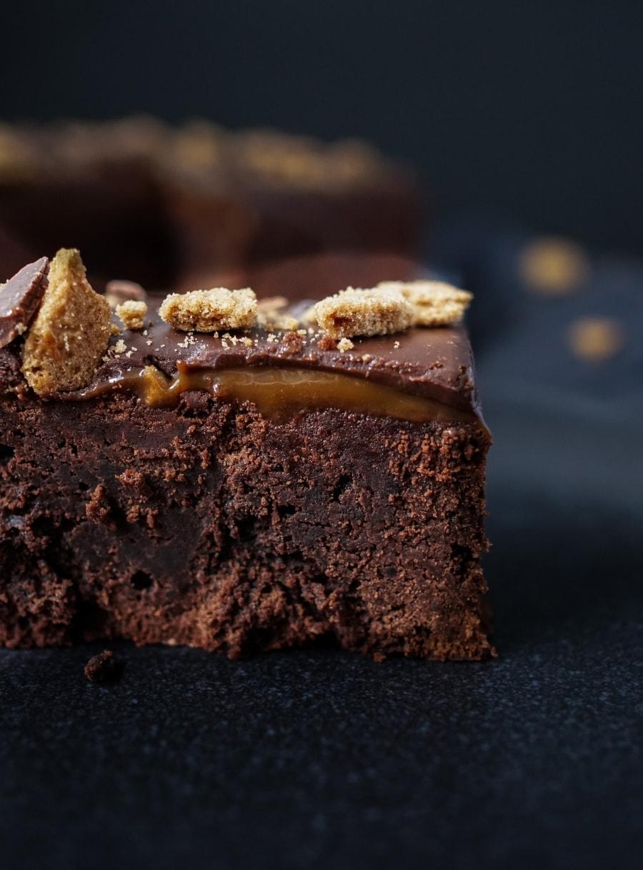 Line backt Brownies deluxe mit Karamell und Schokoladen-Ganache | Line backt | Was is hier eigentlich los?