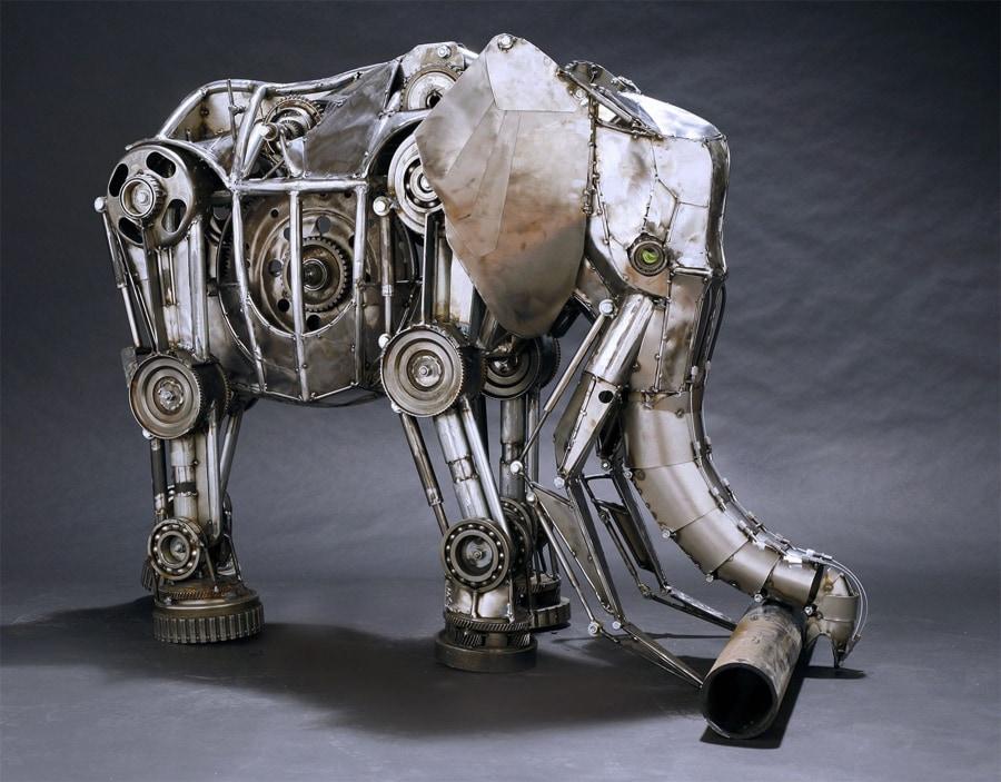 Starke Tier-Metall-Falt-Skulpturen von Andrew Chase | Design/Kunst | Was is hier eigentlich los?