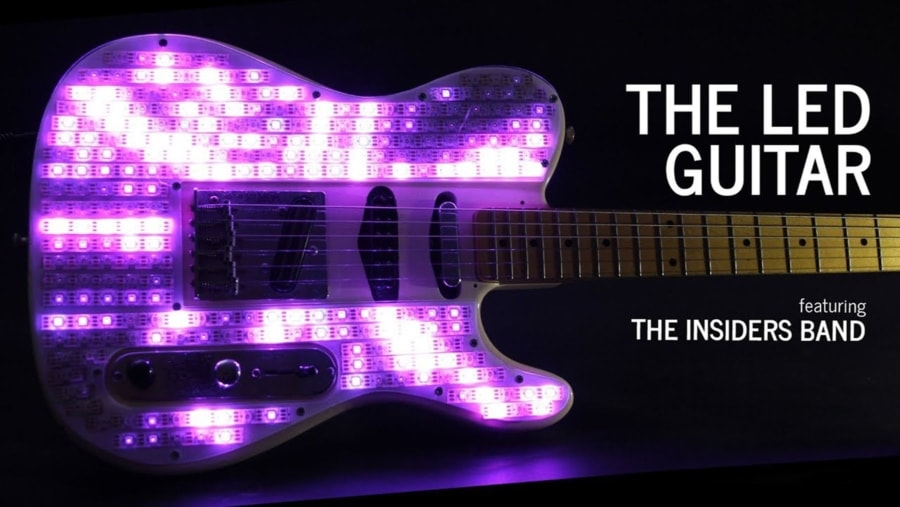 Eine Fender Telecaster-Gitarre mit LEDs aufgemotzt | Gadgets | Was is hier eigentlich los?