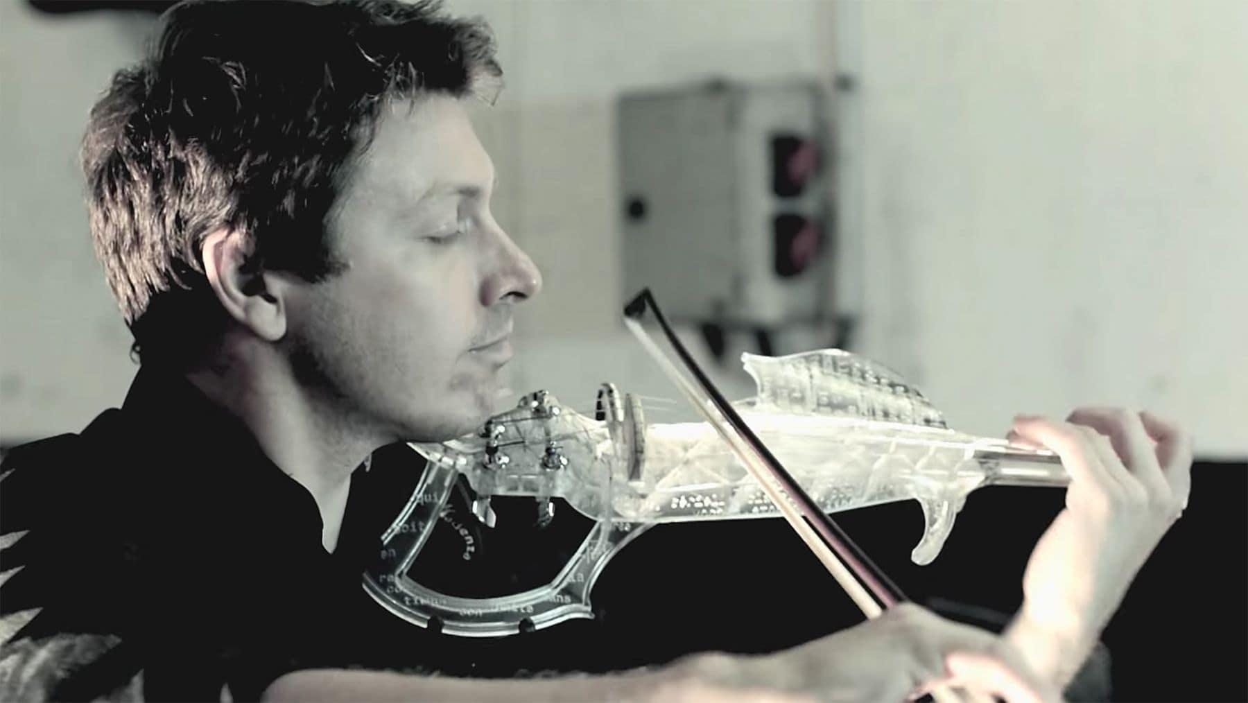 Laurent Bernadac hat sich eine elektrische Violine mit seinem 3D-Drucker gebastelt | Gadgets | Was is hier eigentlich los?