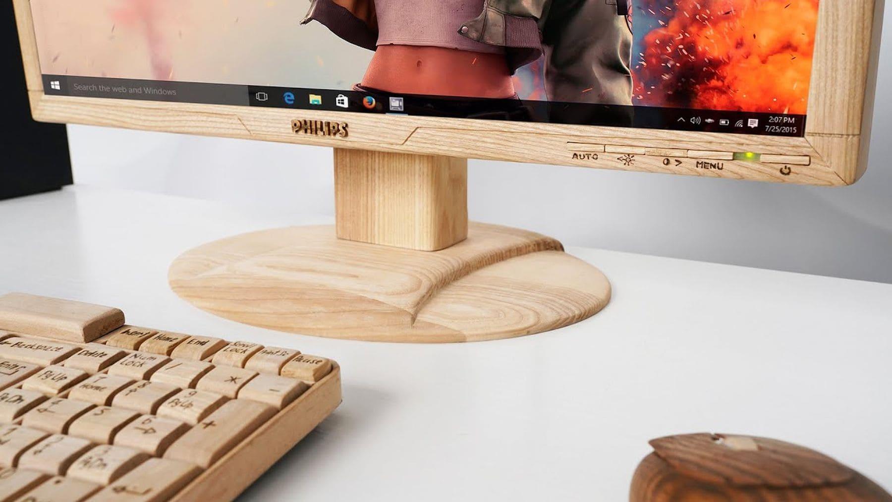 Wie man einen Monitor in Holz einfasst | Handwerk | Was is hier eigentlich los?