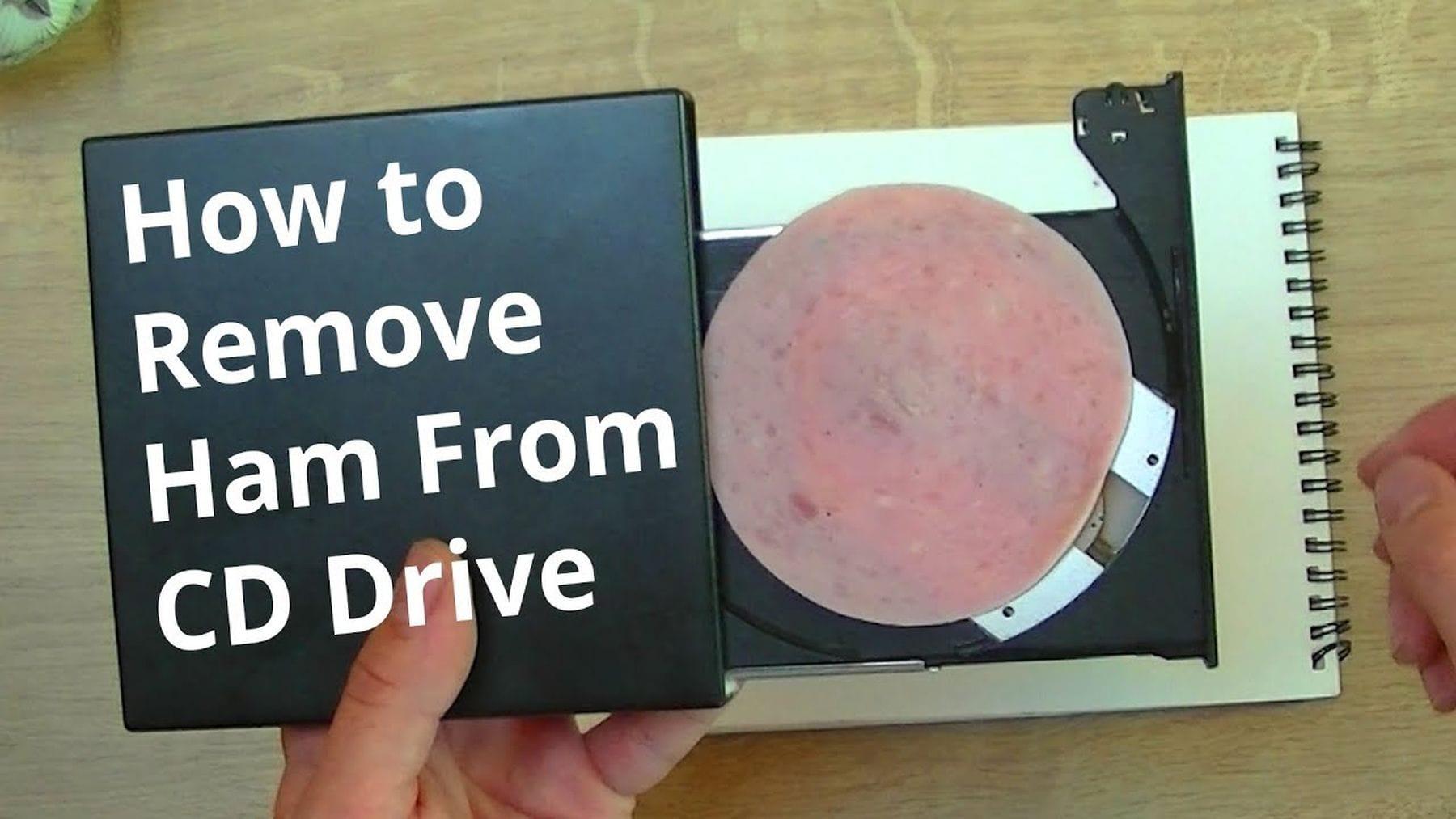 Wie man Schinken aus einem CD-Laufwerk bekommt | Lustiges | Was is hier eigentlich los?