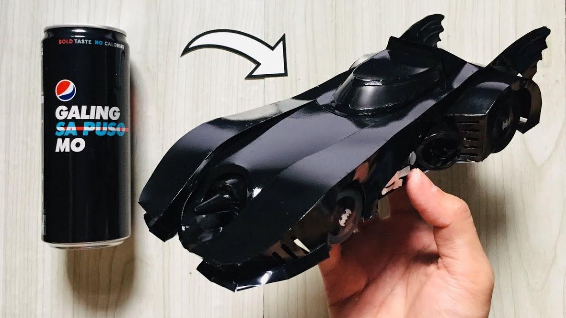Das Batmobil aus einer Getränkedose gebastelt | Awesome | Was is hier eigentlich los?