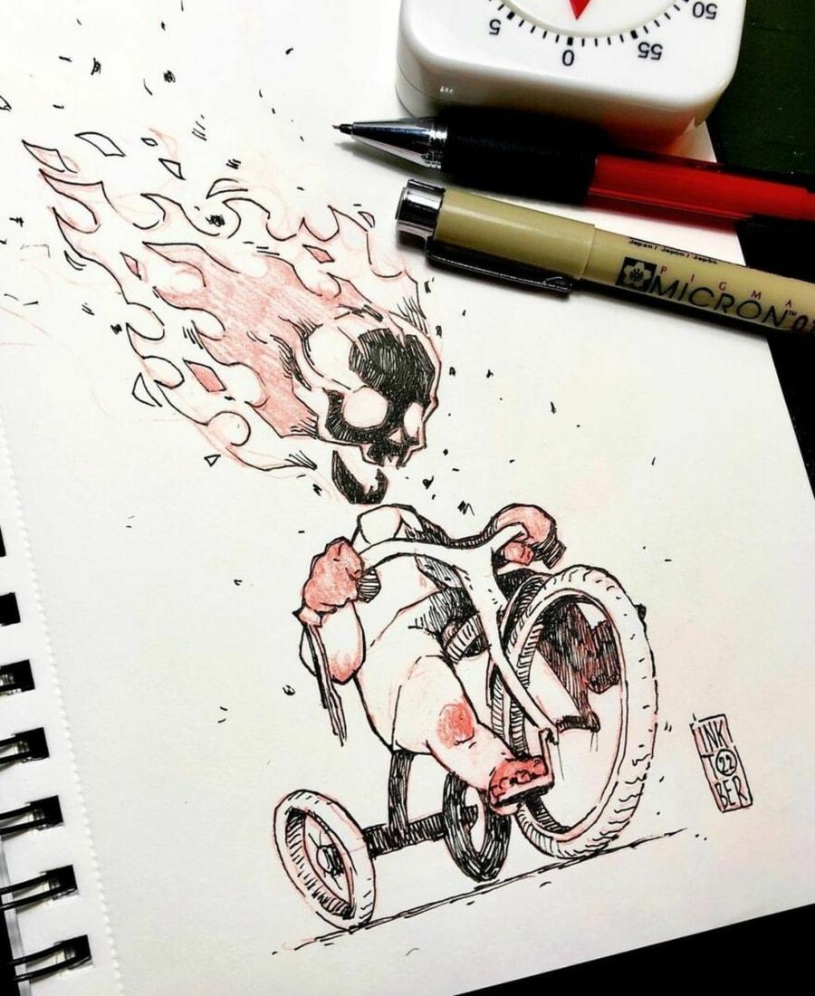 Großartige Illustrationen von Konstantin Andreev mit viel schwarzem Humor und ein bisschen Creepyness   Design/Kunst   Was is hier eigentlich los?