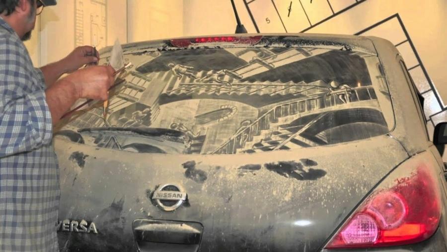 Wie man Dreck auf dem Auto in Kunst verwandelt | Awesome | Was is hier eigentlich los?
