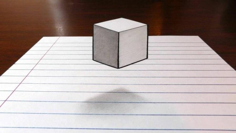 Einen schwebenden 3D-Würfel zeichnen | Design/Kunst | Was is hier eigentlich los?