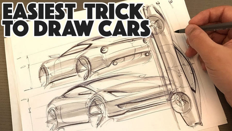 Wie man relativ einfach ein Auto mit 3 Startlinien skizziert | Handwerk | Was is hier eigentlich los?
