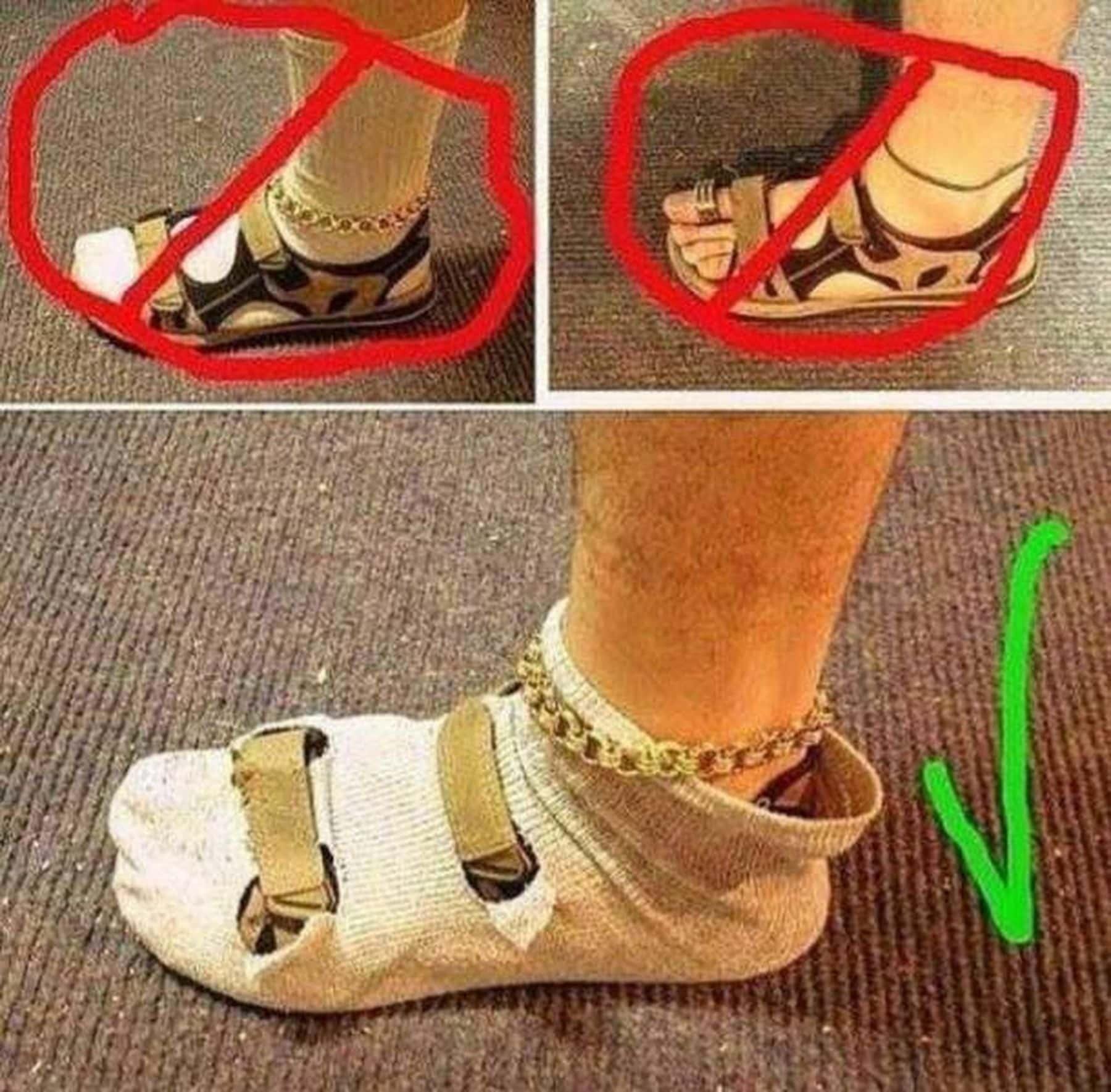 Wie man Sandalen und Socken perfekt kombiniert | Lustiges | Was is hier eigentlich los?