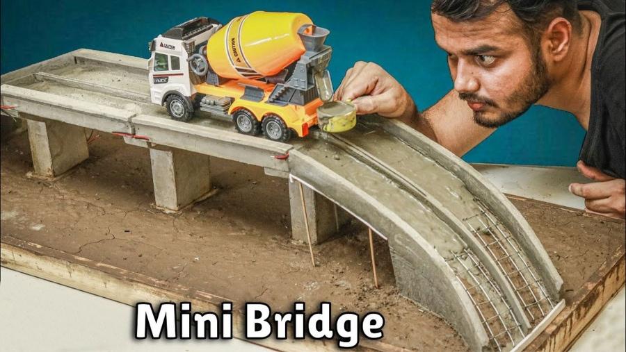 Eine noch kleinere Beton-Brücke im Miniatur-Format gebaut | Handwerk | Was is hier eigentlich los?