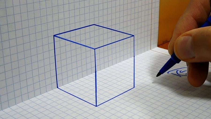 Wie man einen 3D-Perspektiv-Würfel zeichnet | Was gelernt | Was is hier eigentlich los?
