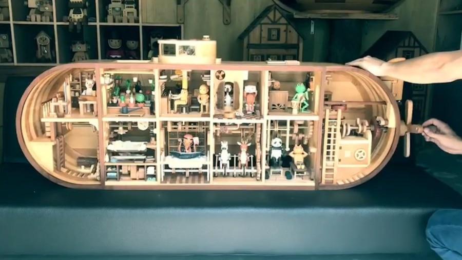 Ein Spielzeug-U-Boot aus Holz, in dem sich alles bewegt | Gadgets | Was is hier eigentlich los?