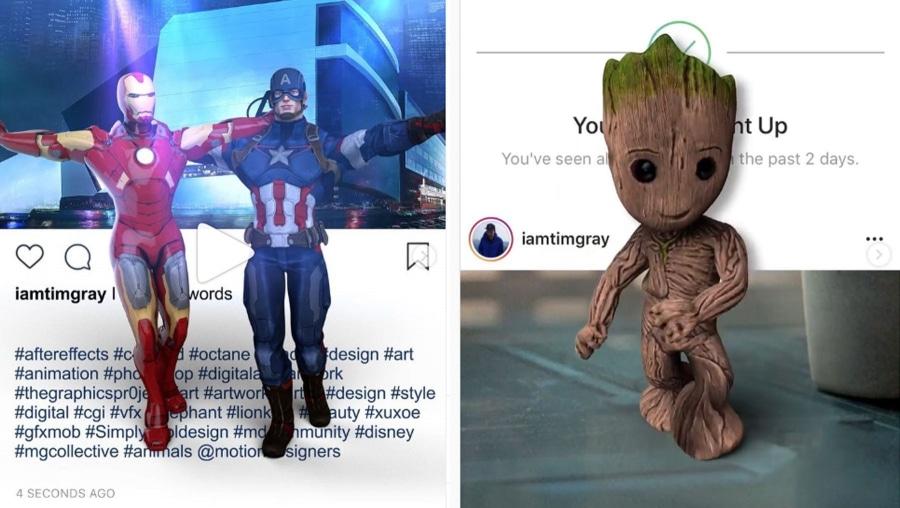 Mit coolen 3D-Animationen die 4. Wand bei Instagram durchbrechen | Design/Kunst | Was is hier eigentlich los?