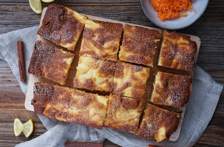 Line backt Karottenkuchen mit Käsekuchen-Swirl | Line backt | Was is hier eigentlich los?