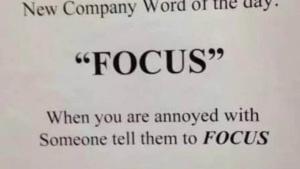 Focus ist sooo wichtig | Lustiges | Was is hier eigentlich los?
