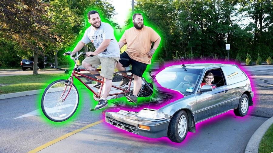 Ein Auto per Tandem angetrieben | Gadgets | Was is hier eigentlich los?