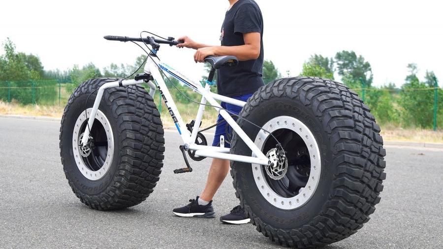 Wirklich dicke Reifen an ein Fahrrad montiert | Gadgets | Was is hier eigentlich los?