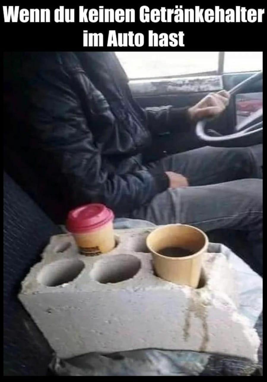 Gewusst wie: Getränkehalter fürs Auto   Lustiges   Was is hier eigentlich los?