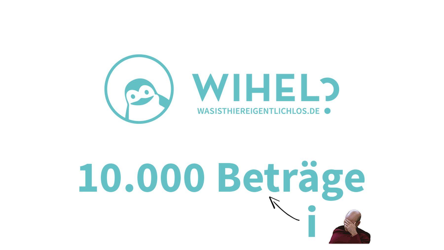 10.000 Beiträge auf wihel.de!   Bloggerei   Was is hier eigentlich los?