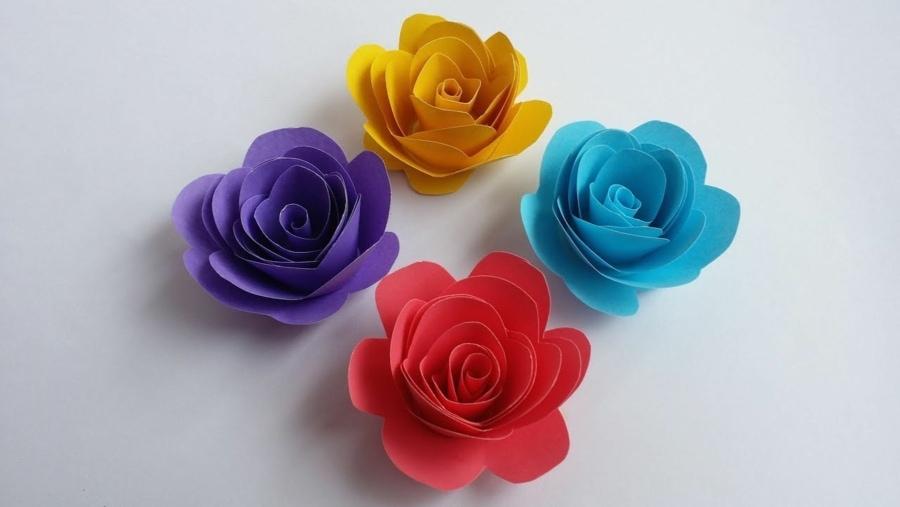 Wie man kleine Rosen aus Papier bastelt | Handwerk | Was is hier eigentlich los?