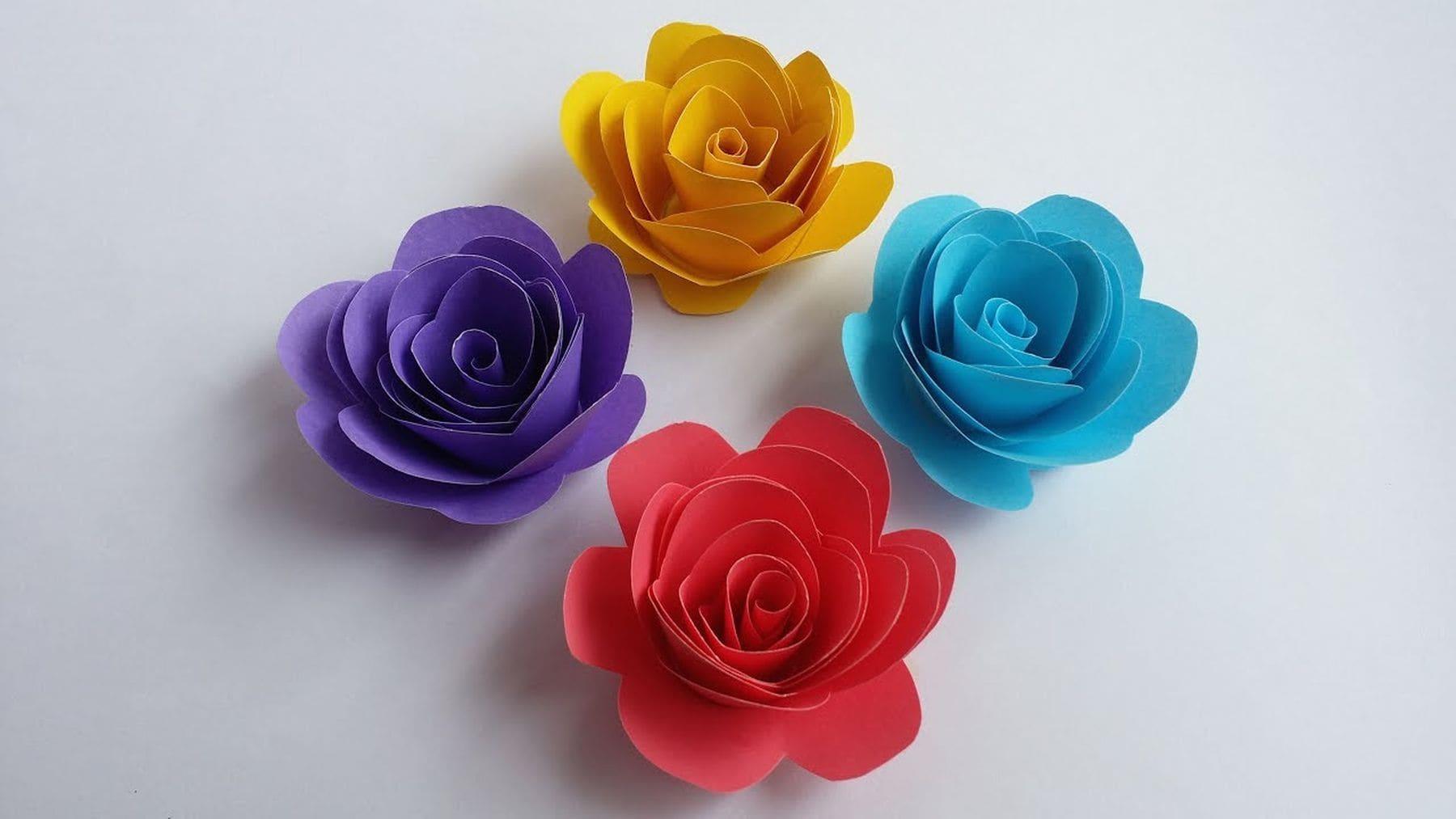 Wie man kleine Rosen aus Papier bastelt   Handwerk   Was is hier eigentlich los?
