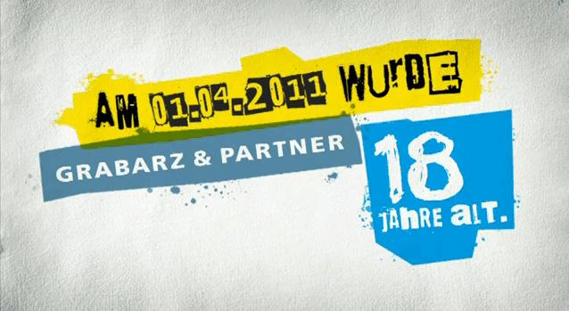 Peter Hauner geht für die Agentur Grabarz & Partner zum 18. Geburtstag betteln