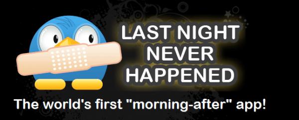 Last night never happened